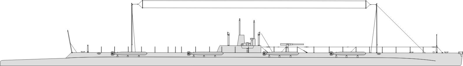 чертеж подводной лодки нарвал
